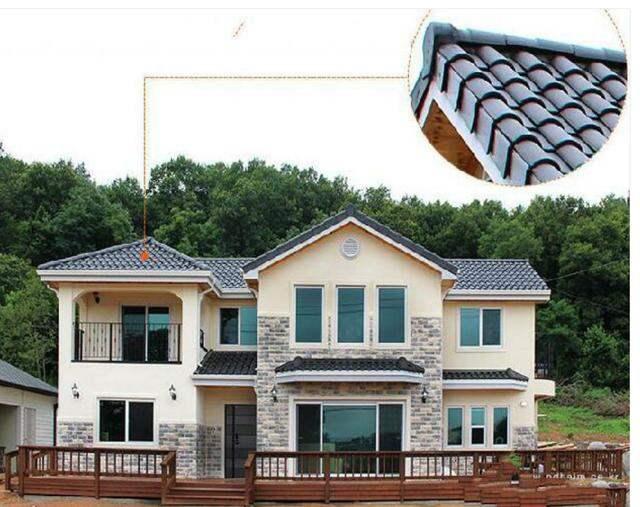 琉璃瓦屋顶效果图片